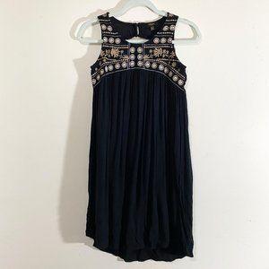CUPIO Black Embroidered Dress